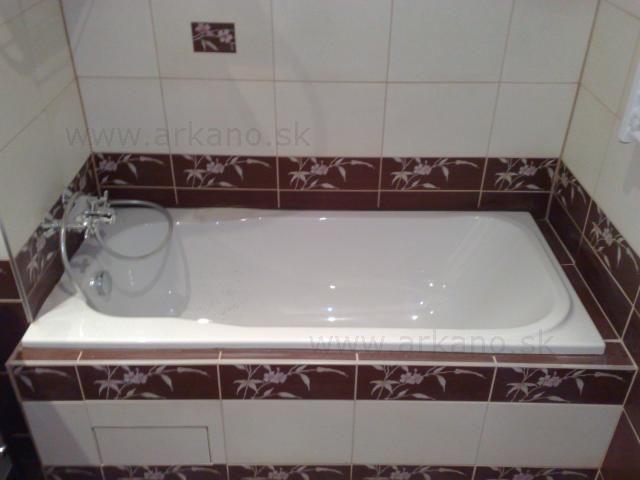obklad v kúpelni - osadenie vane, obkladanie